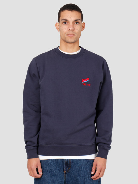 By Parra Flapping Flag Crew Neck Sweater Navy Blue 43110