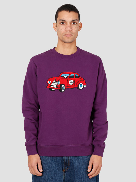 By Parra Toy Car Crew Neck Sweater Purple 43090
