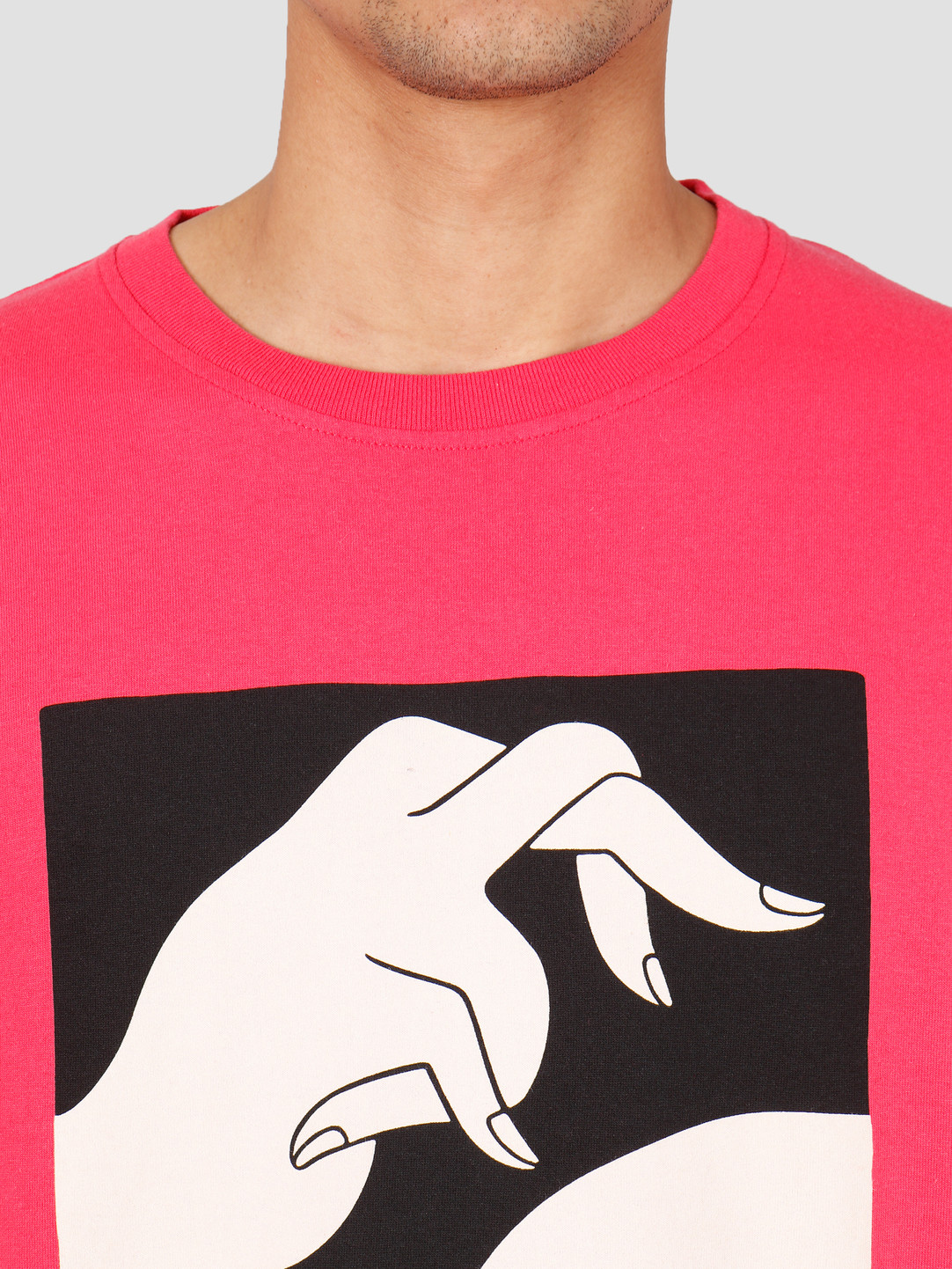 By Parra By Parra In A Void T-Shirt Coral Red 43080