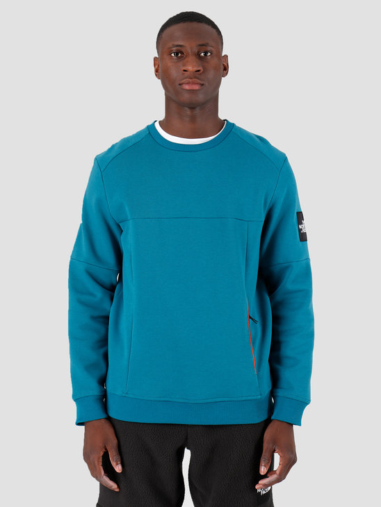 The North Face Fine 2 Crew Sweat Blue Coral T93XXZEFS