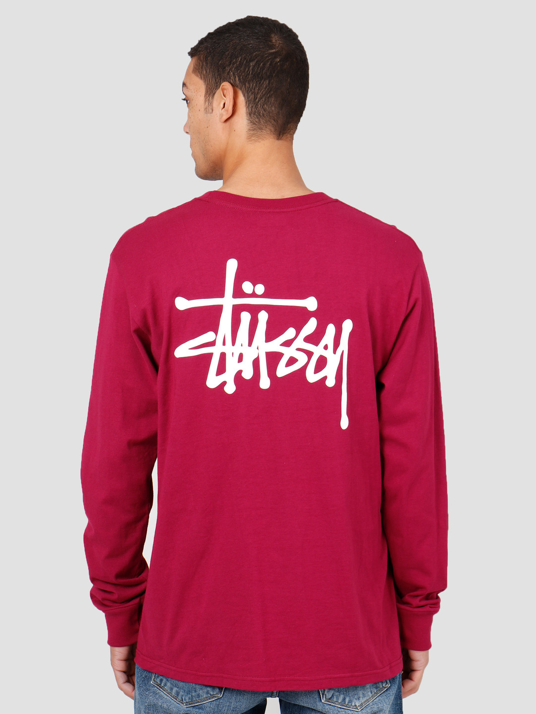 Stussy Stussy Basic Stussy Longsleeve T-Shirt Wine 1994416