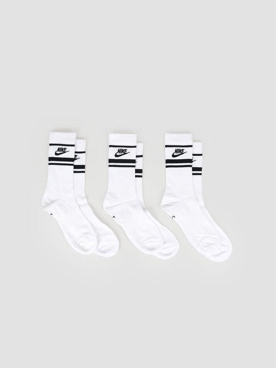 Nike Nsw Essential Socks White Black Black Cq0301-103