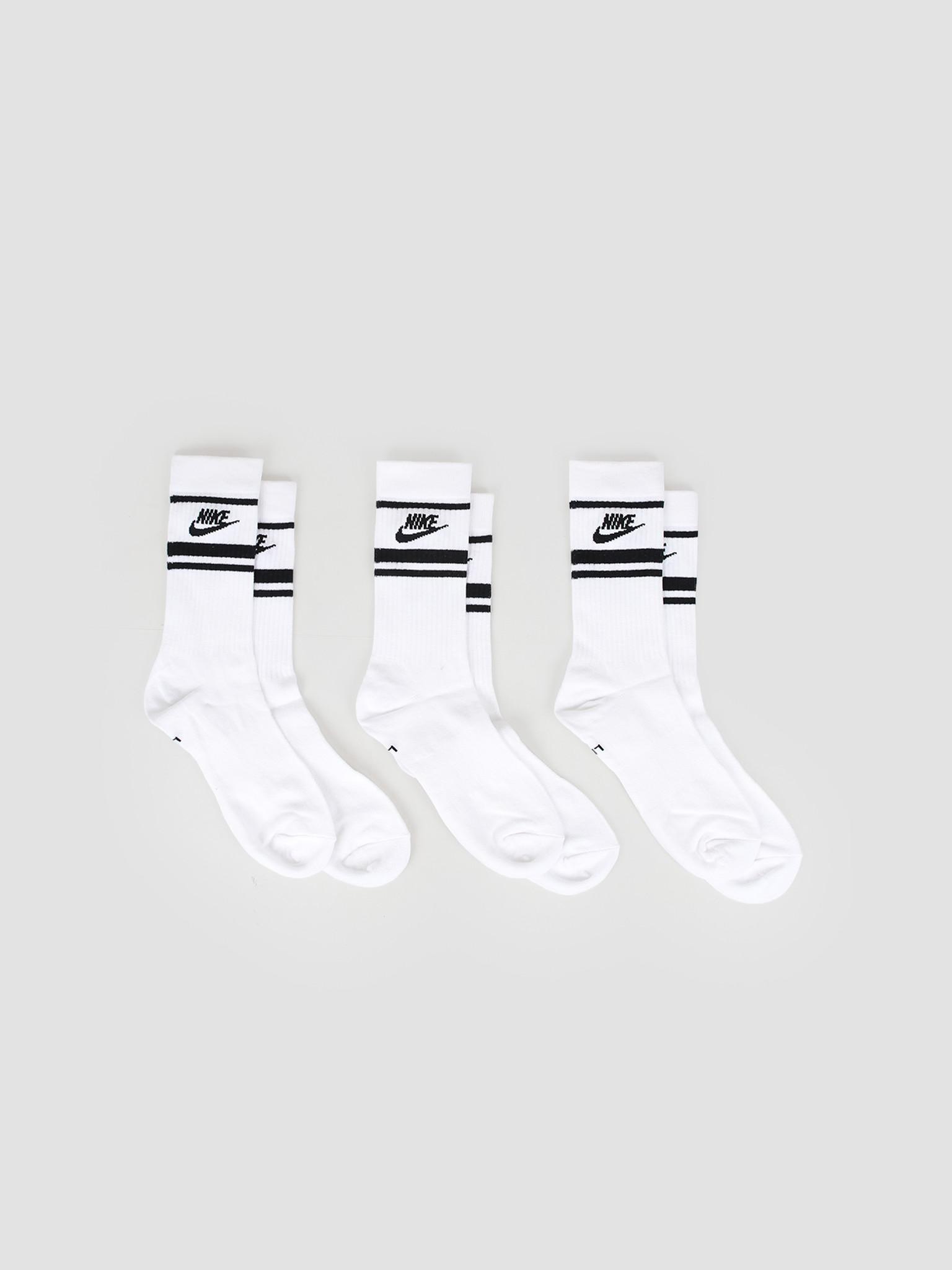 Nike Nike Nsw Essential Socks White Black Black Cq0301-103