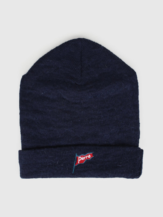 By Parra Flapping Flag Beanie Navy Blue 43030