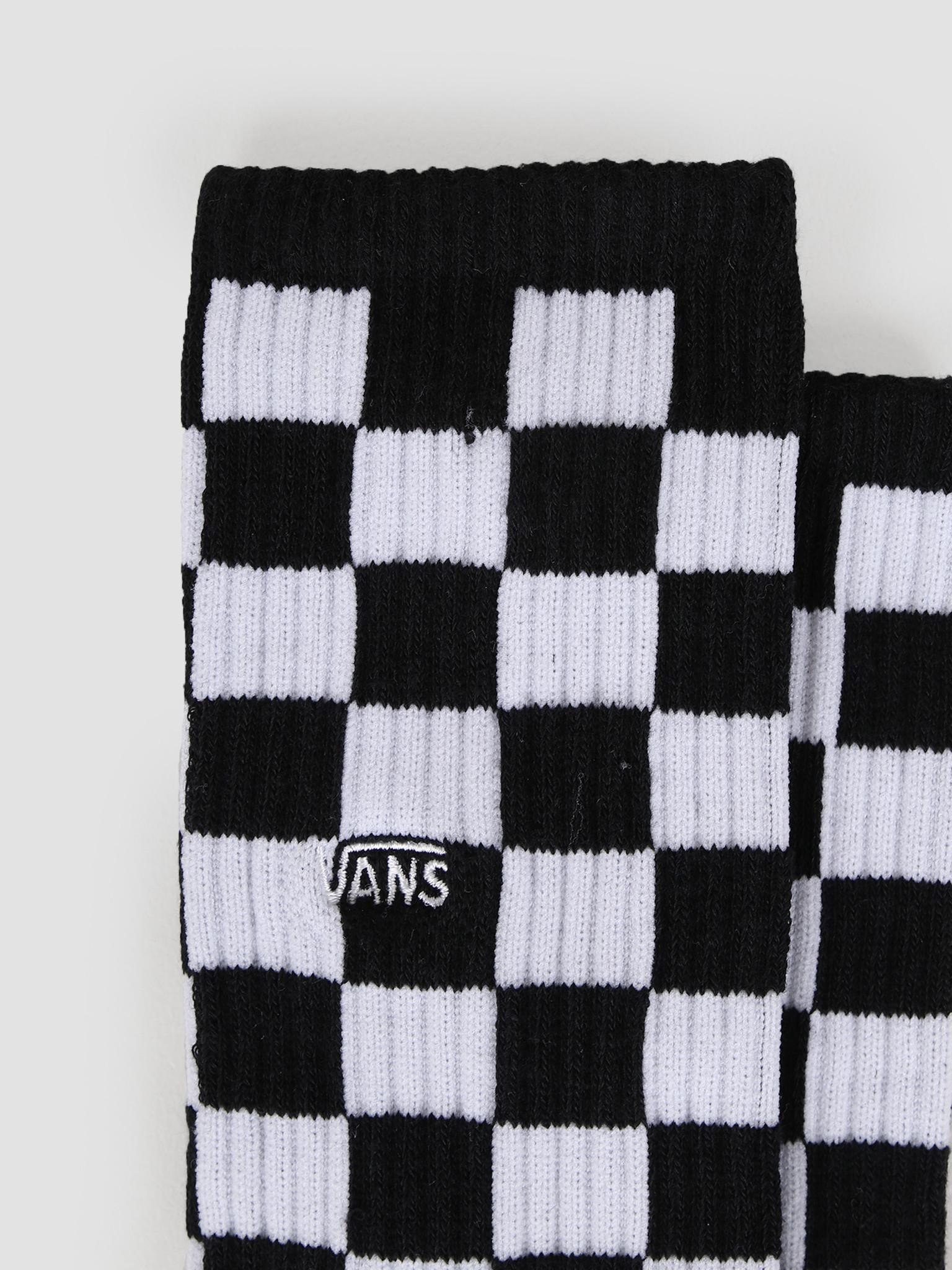 Vans Vans Checkerboard Crew Socks Black White VA3H3OHU0