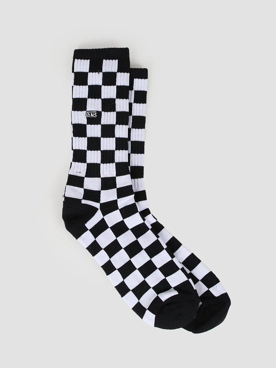 Vans Checkerboard Crew Socks Black White VA3H3OHU0
