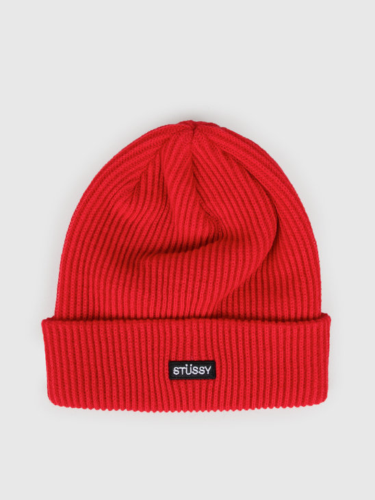 Stussy Small Patch Watch Cap Beanie Red 132957