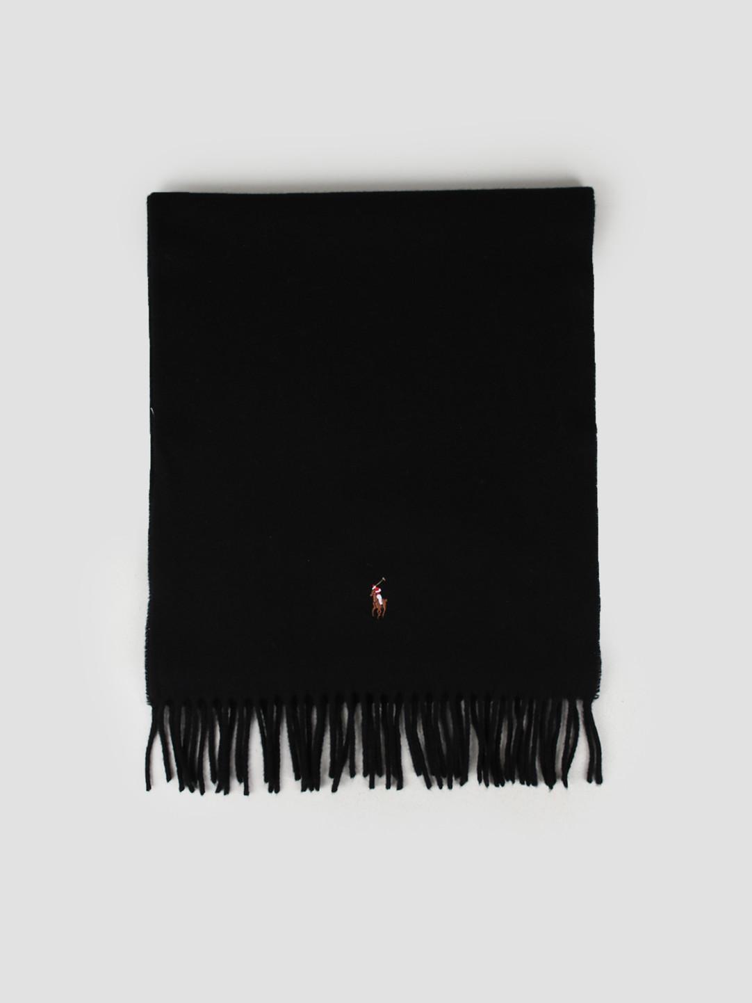 Polo Ralph Lauren Polo Ralph Lauren Sign It Wool Oblong Scarf Black 449727530001