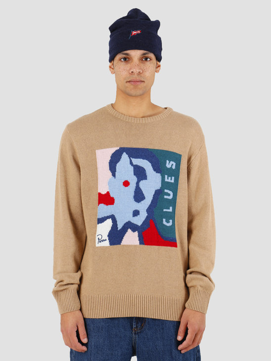 By Parra Clues Knitted Pullover Camel 43120