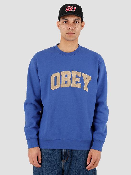 Obey OBEY Uni Crew Blue 112480066BLU