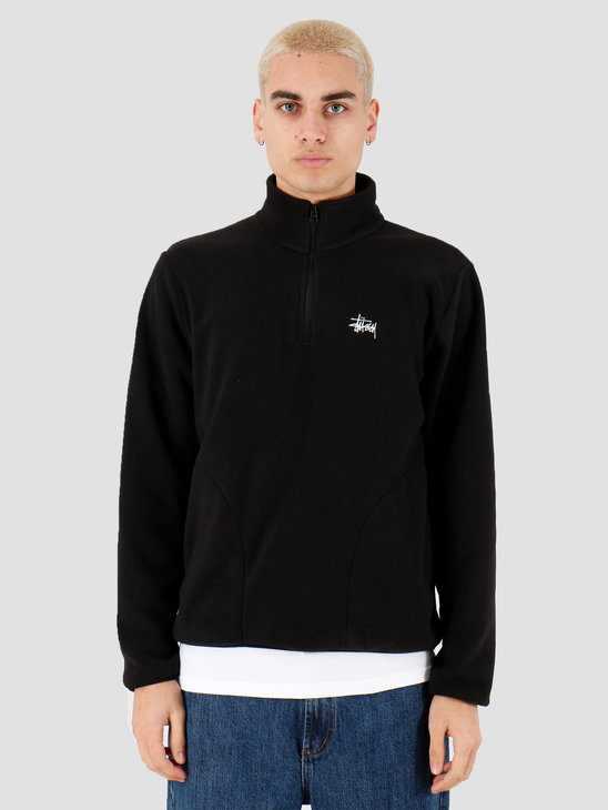 Stussy Basic Polar Fleece Mock Black 118347