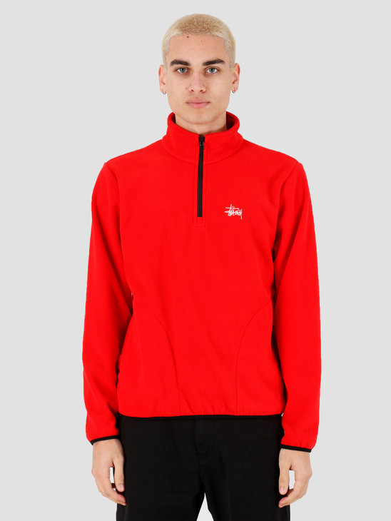 Stussy Basic Polar Fleece Mock Red 118347
