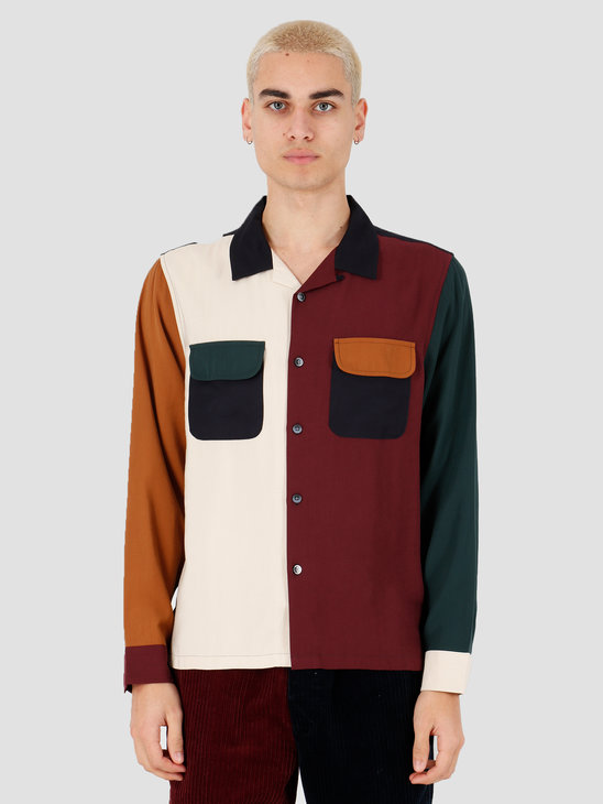 Stussy Color Block Rayon Shirt Multi 1110086