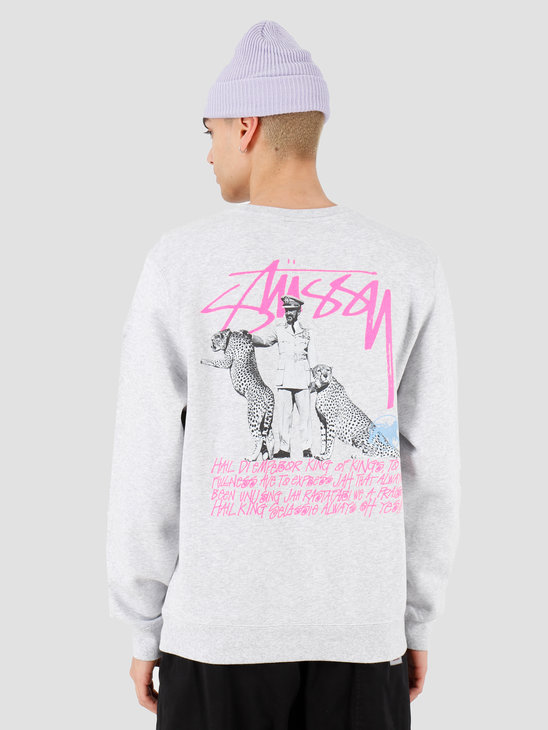 Stussy Emperor Crew Ash Heather 1914474