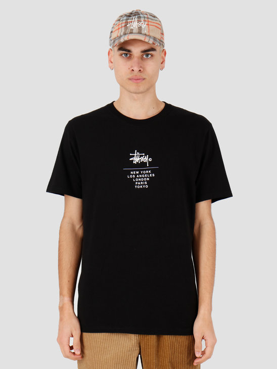 Stussy City Stack Tee Black 1904467