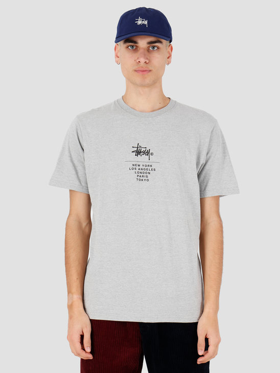 Stussy City Stack Tee Grey Heathe 1904467