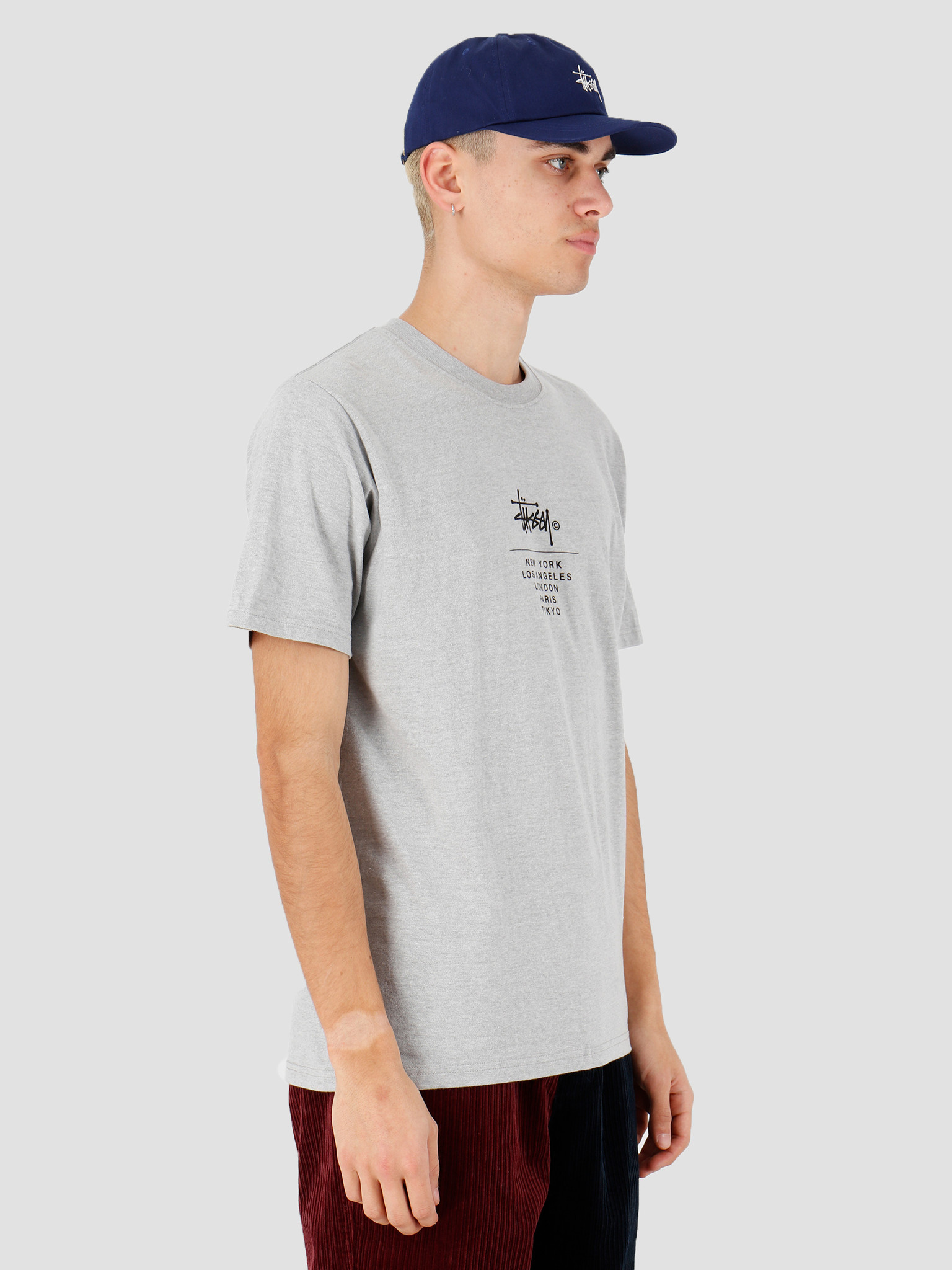 Stussy Stussy City Stack Tee Grey Heather 1904467