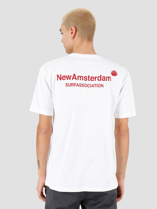 New Amsterdam Surf association Logo tee White 2018026