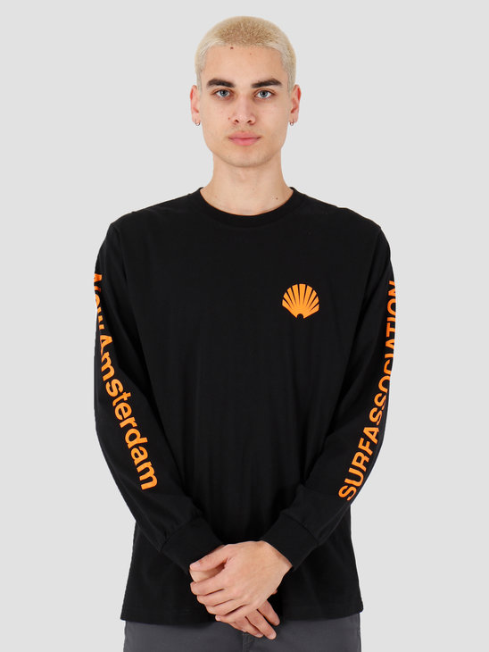 New Amsterdam Surf association Logo longsleeve Black 2018031