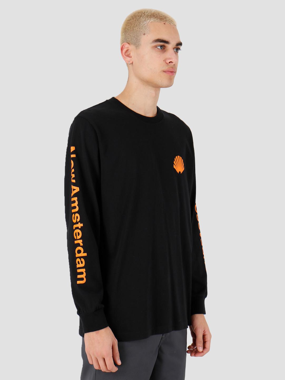 New Amsterdam Surf association New Amsterdam Surf association Logo longsleeve Black 2018031