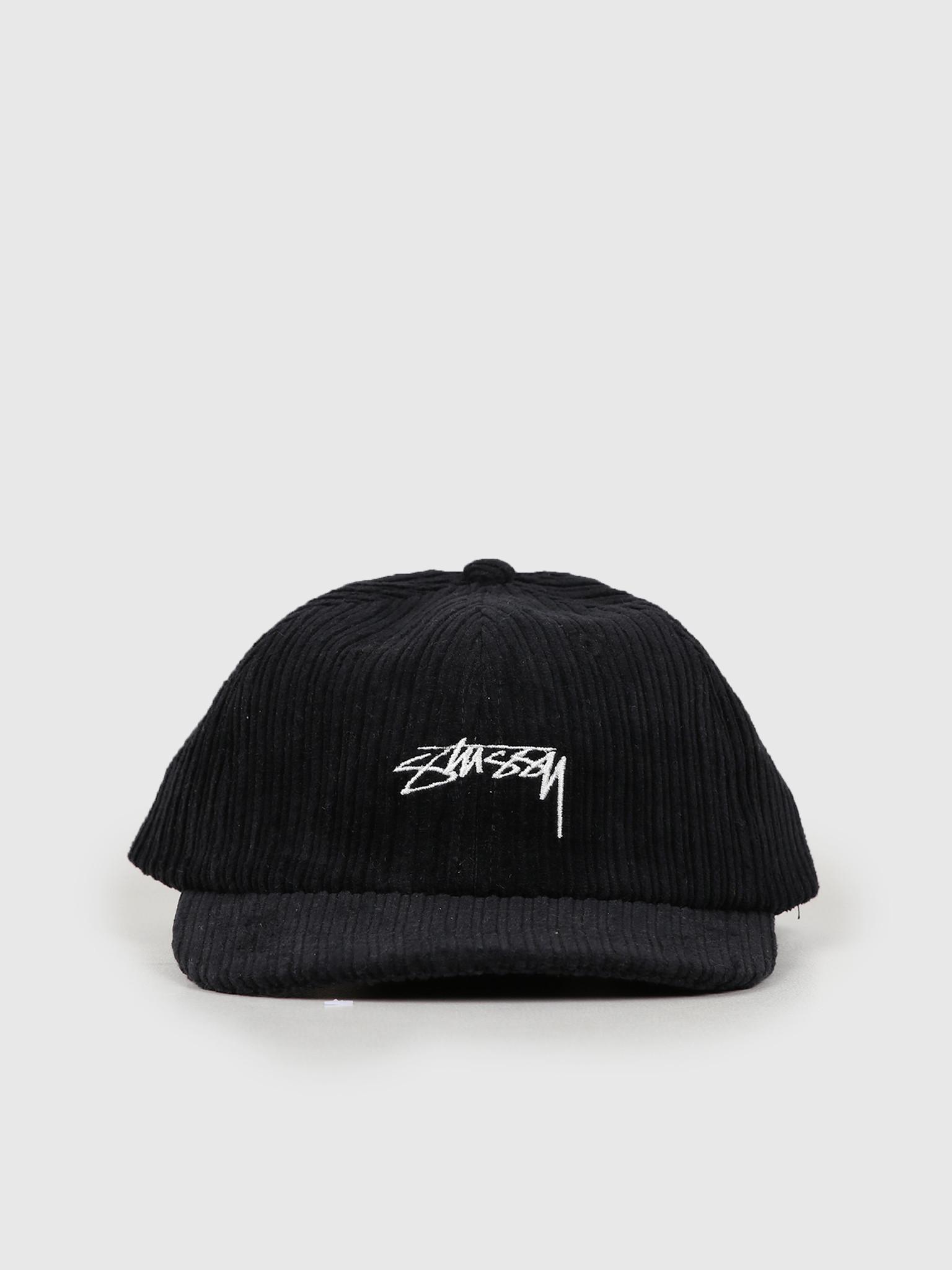 Stussy Stussy Ho19 Cord Low Pro Cap Black 131919