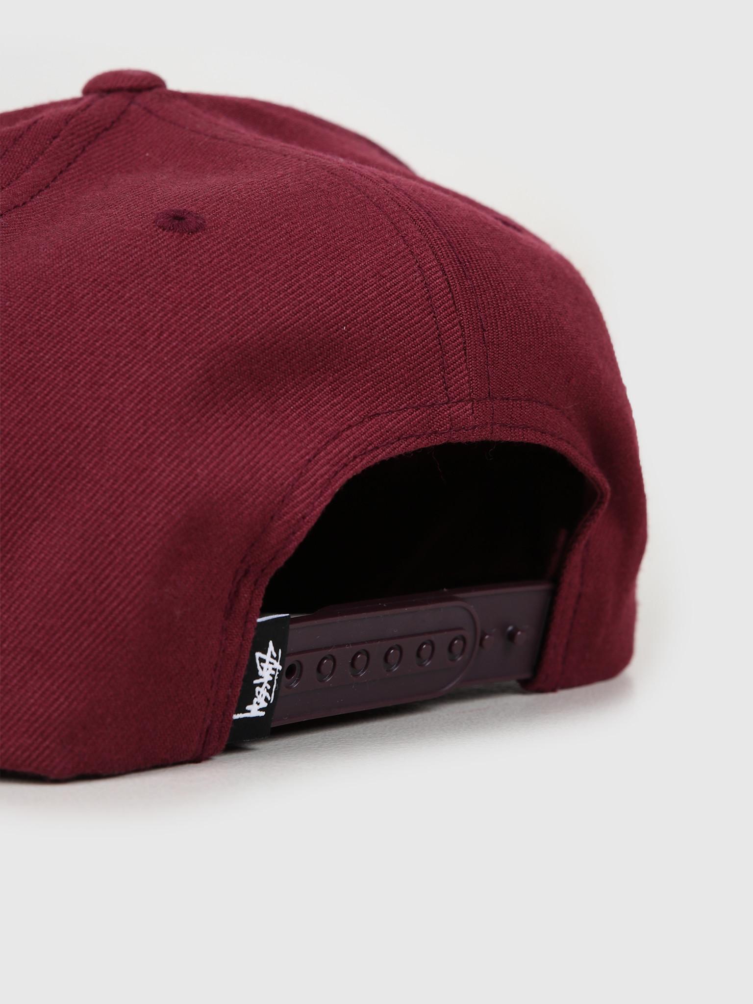 Stussy Stussy Ho19 Stock Cap Burgundy 131921