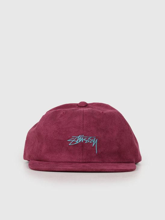 Stussy Microfiber Cap Burgundy 131920