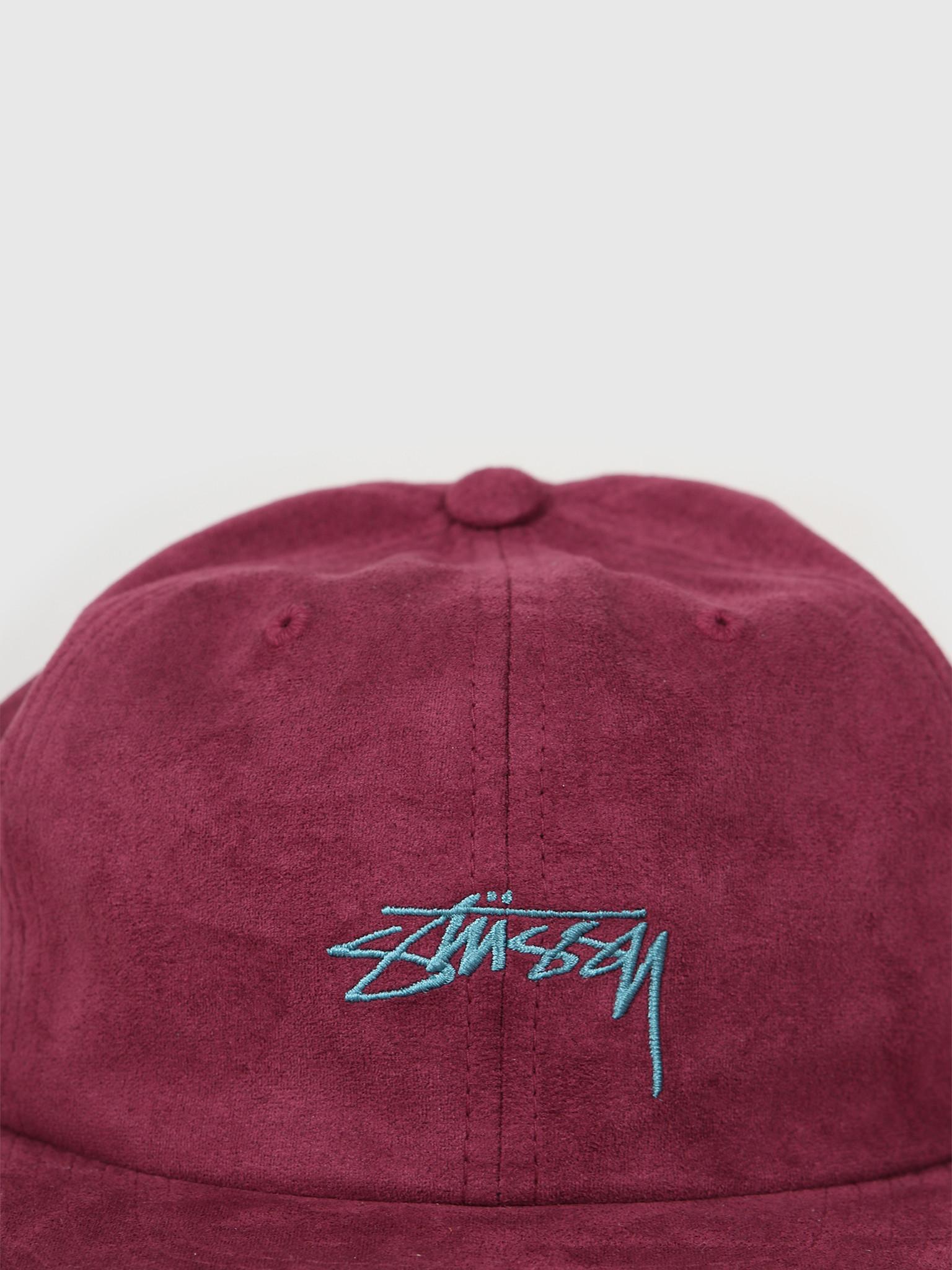 Stussy Stussy Microfiber Cap Burgundy 131920
