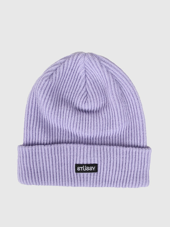 Stussy Small Patch Watch Cap Beanie Lavender 132957