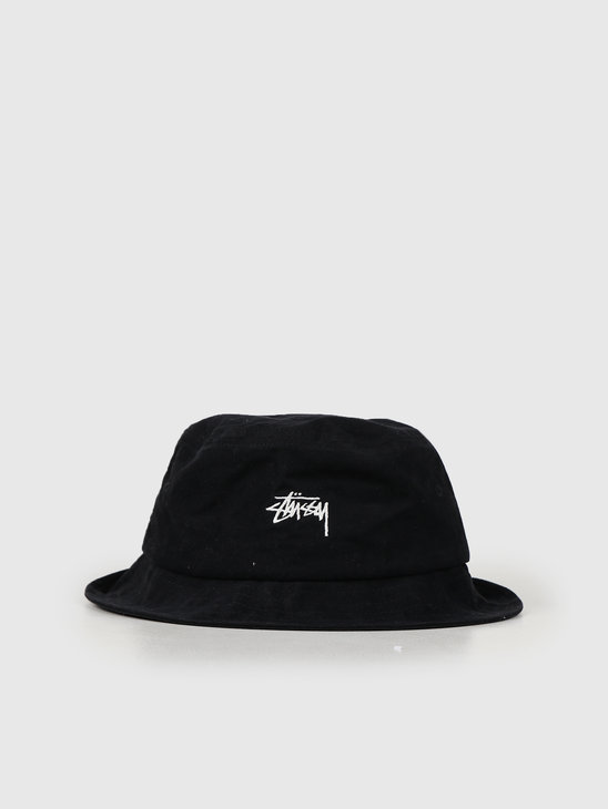 Stussy Stock Canvas Bucket Hat Black 132961
