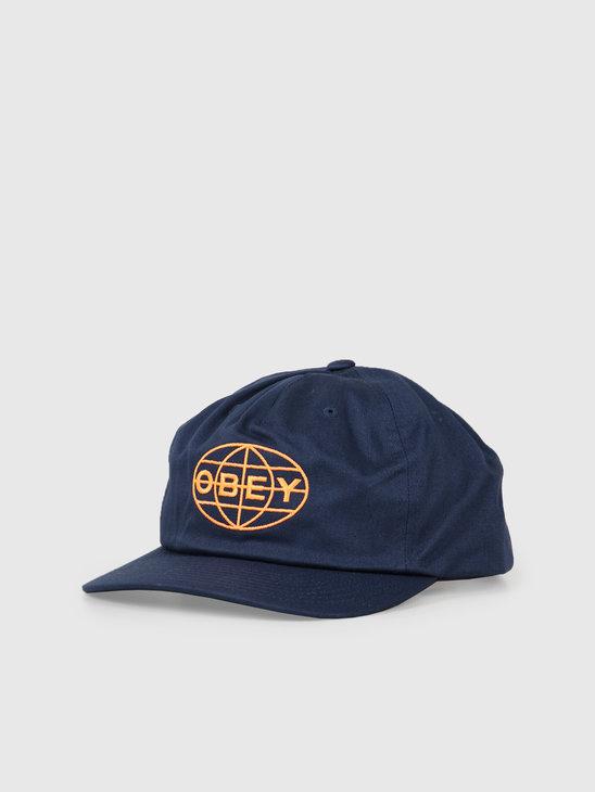 Obey Gravity Snapback Navy 100570103Nvy
