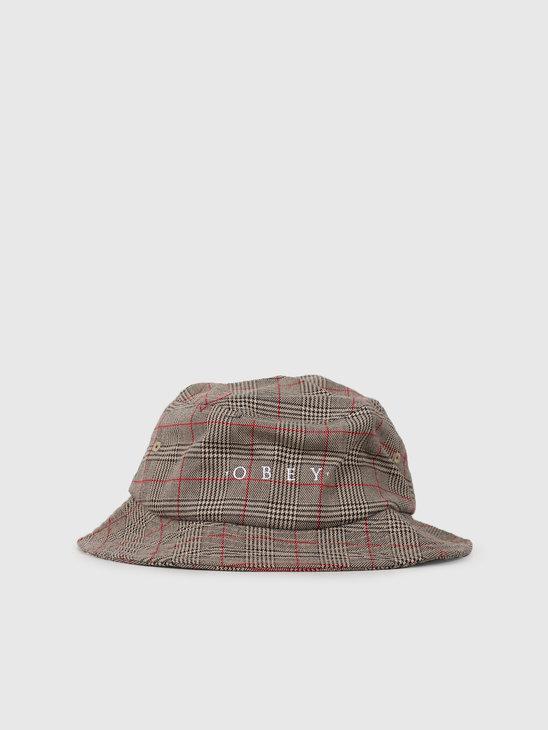 Obey Holmes Bucket Hat Khaki Multi 100520028Kha