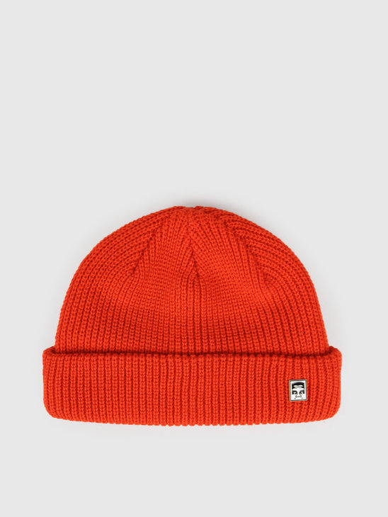 Obey Micro Beanie Brunt Red 100030125Brd
