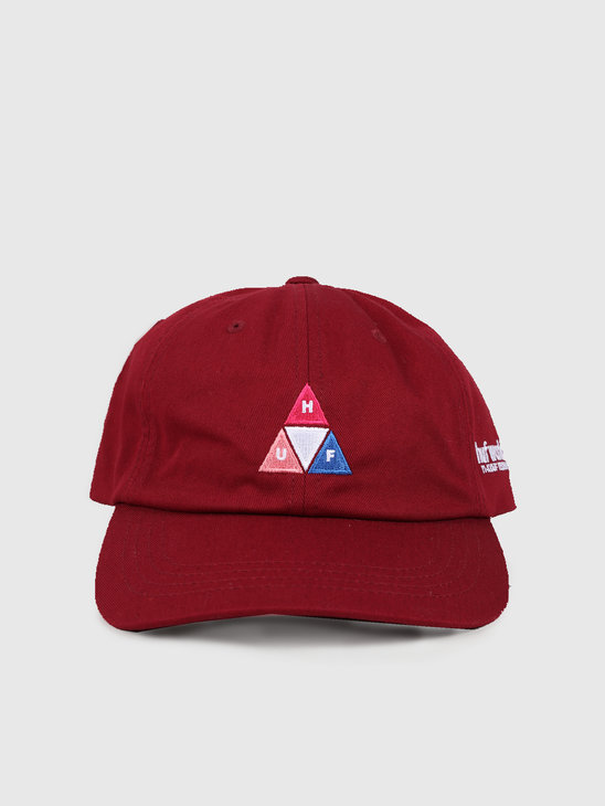 HUF Peak Logo Cv 6 Panel Hat Red Pear Ht00424Rpear