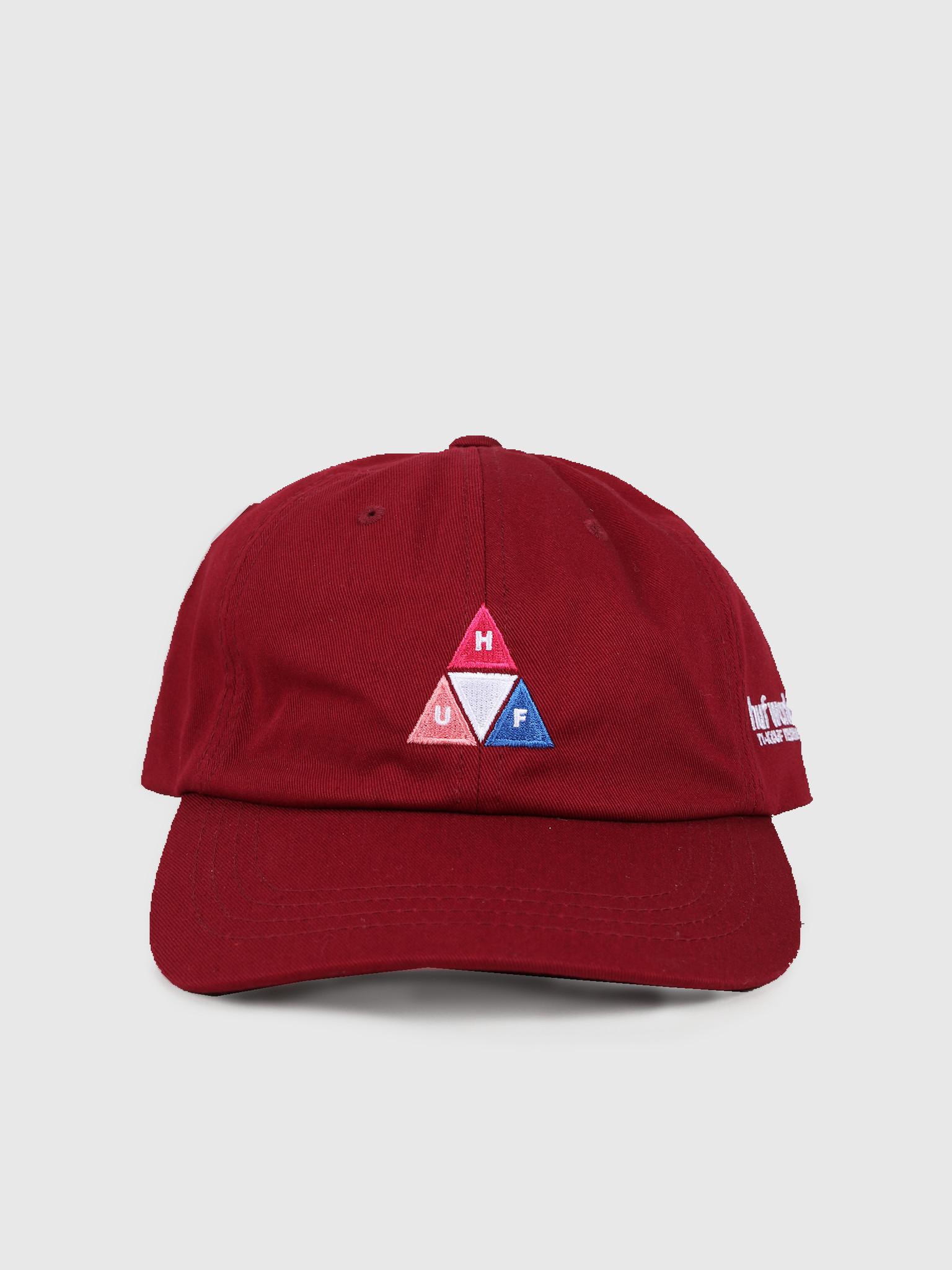 HUF HUF Peak Logo Cv 6 Panel Hat Red Pear Ht00424Rpear