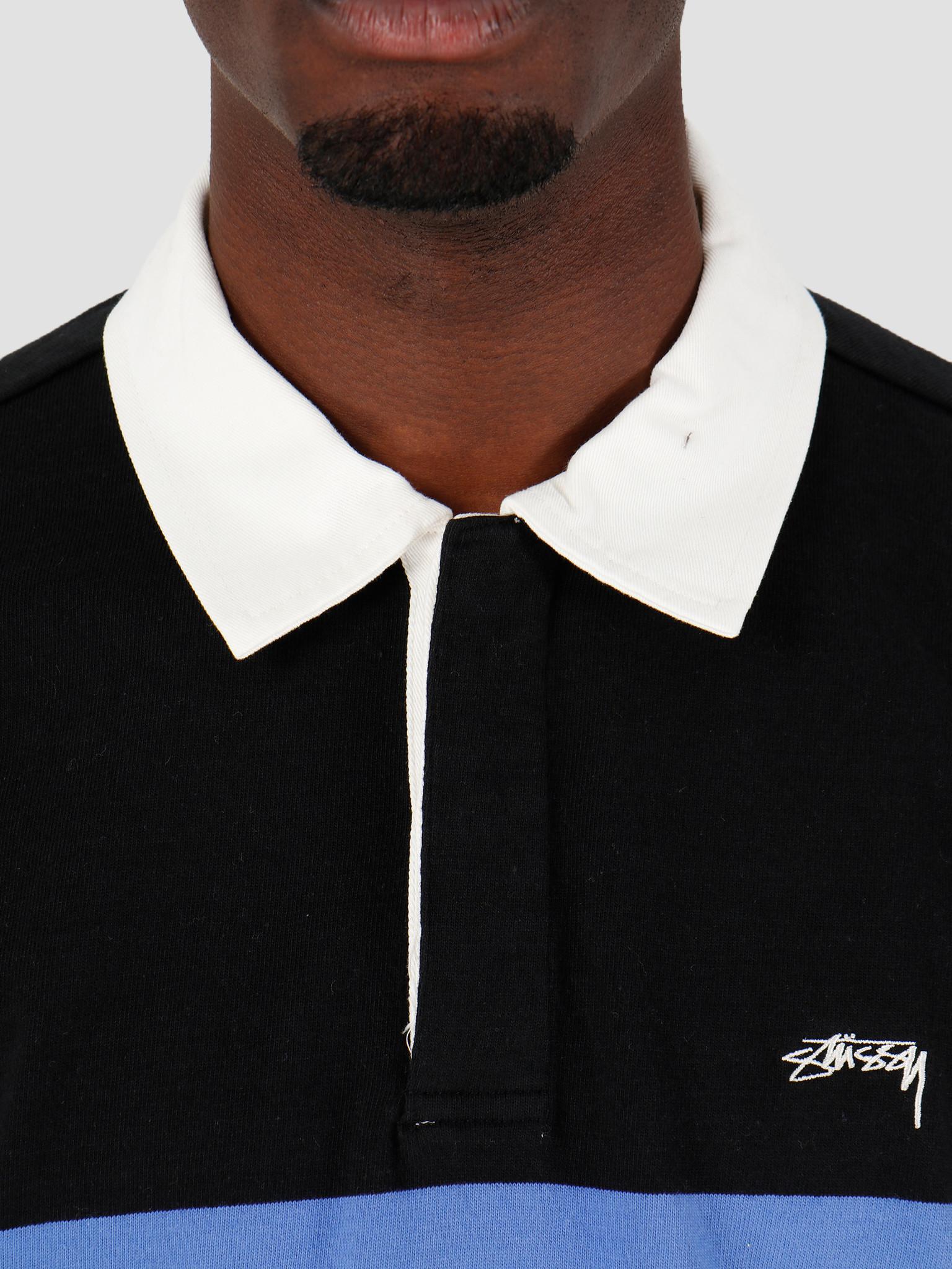 Stussy Stussy Justin LS Rugby Black 1140168
