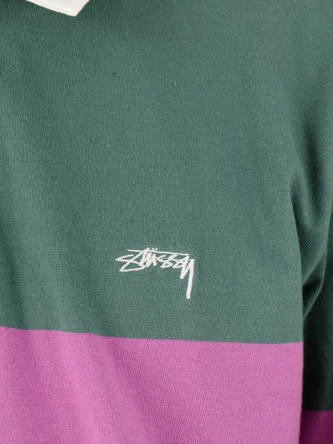Stussy Stussy Justin LS Rugby Green 1140168
