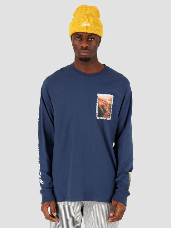 Stussy Great Outdoors Ls Tee Navy 1994492