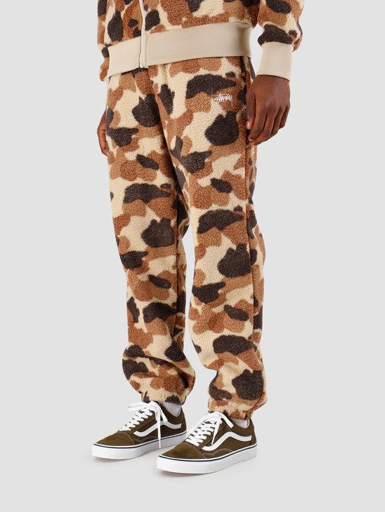 Stussy Camo Fleece Pant Camo 116409