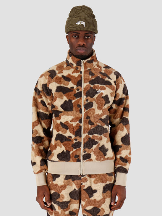 Stussy Camo Fleece Jacket Camo 118351