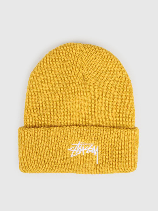Stussy Ho19 Stock Cuff Beanie Saffron Yellow 132953
