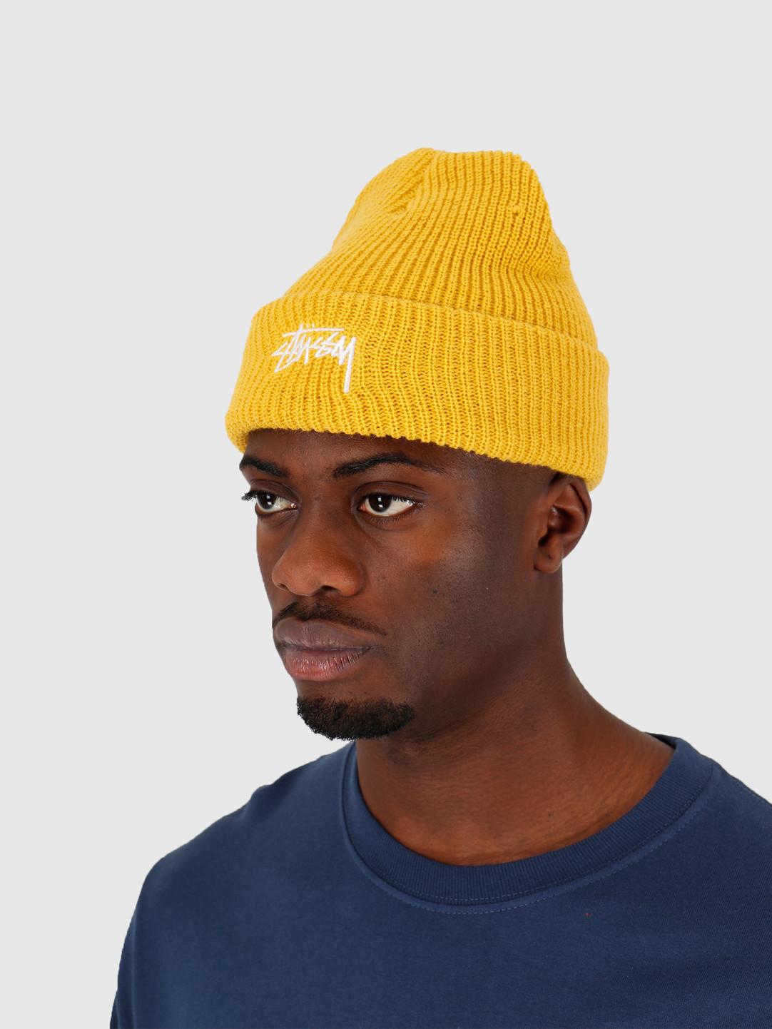 Stussy Stussy Ho19 Stock Cuff Beanie Saffron Yellow 132953