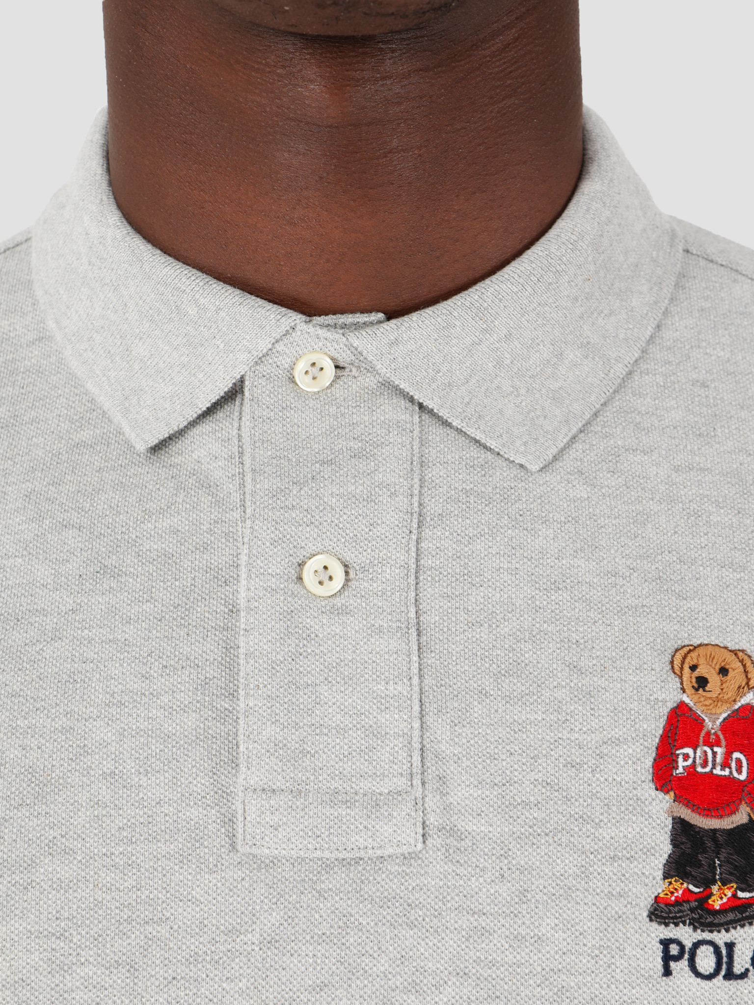 Polo Ralph Lauren Polo Ralph Lauren Sskccmslm1 Short Sleeve Knit Grey 710782858006