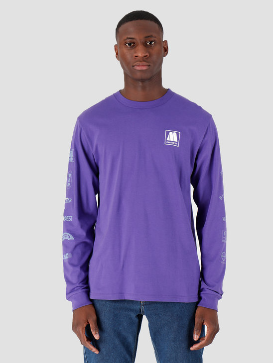 Carhartt WIP Longsleeve Motown Sublabels T-Shirt Prism Violet I027851