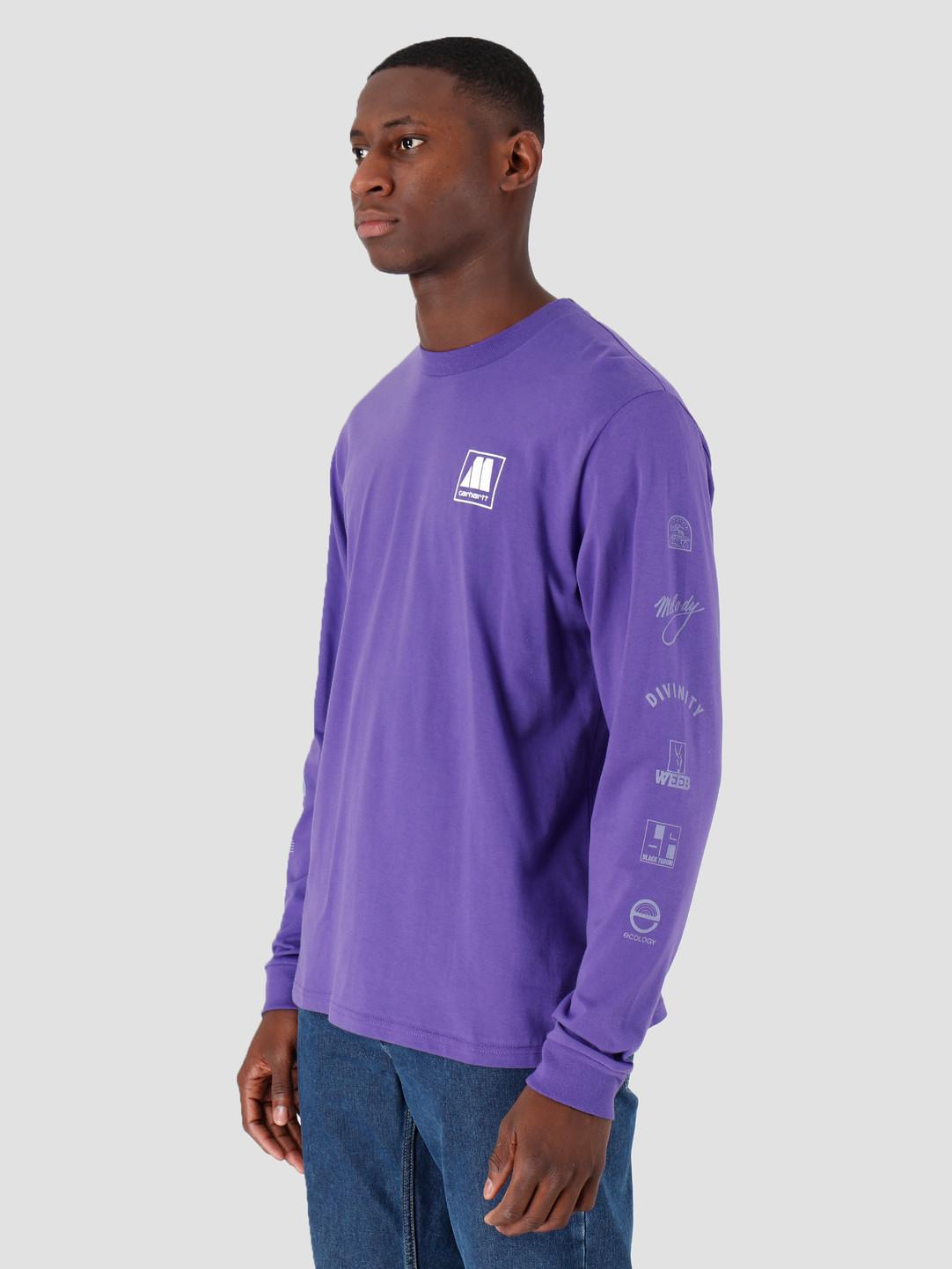 Carhartt WIP Carhartt WIP Longsleeve Motown Sublabels T-Shirt Prism Violet I027851