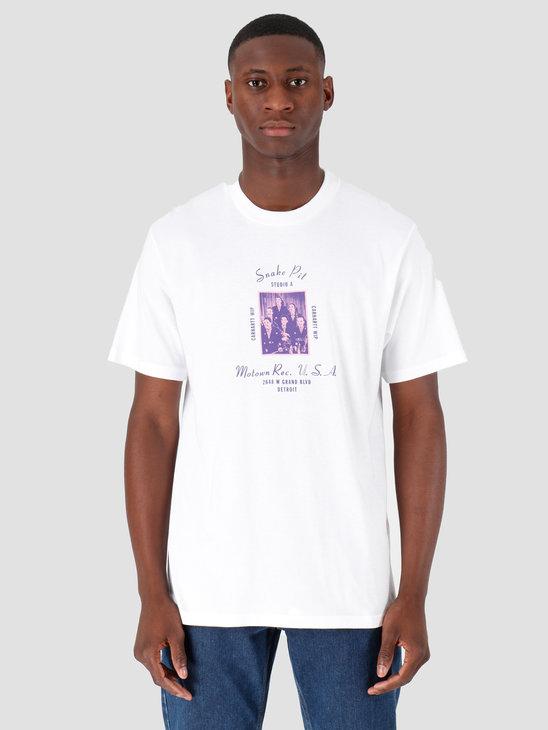Carhartt WIP Motown Snake Pit T-Shirt White I027856