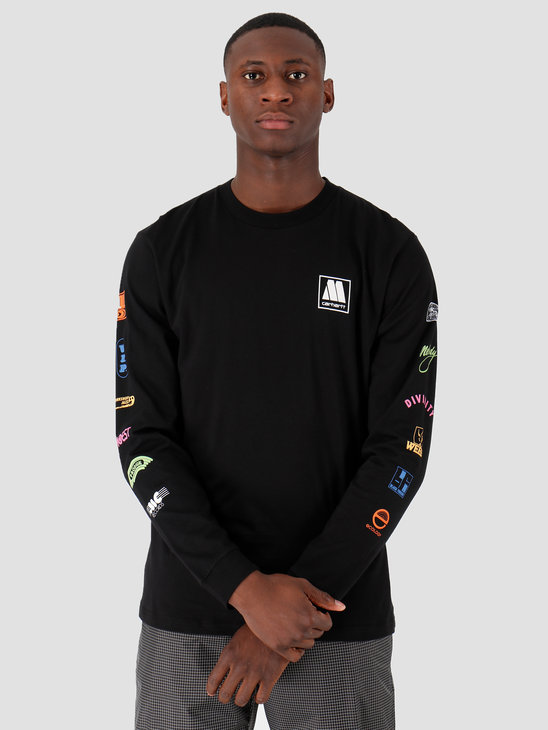 Carhartt WIP Longsleeve Motown Sublabels T-Shirt Black I027851