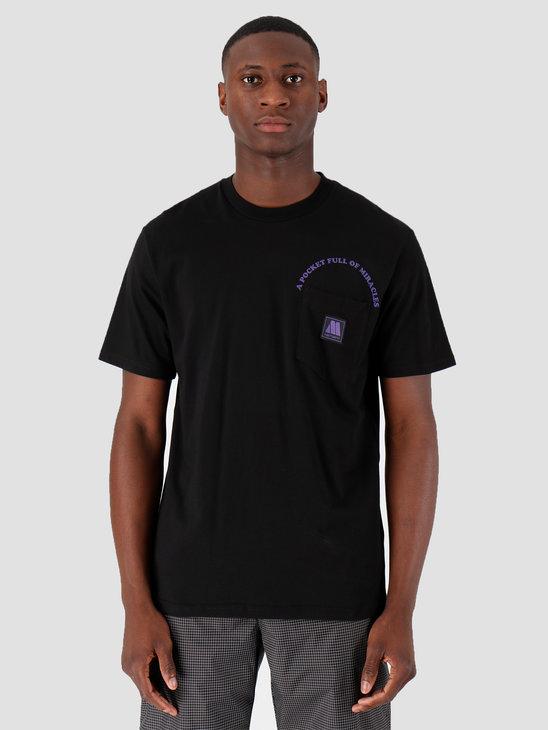 Carhartt WIP Motown Pocket T-Shirt Black Prism Violet I027852