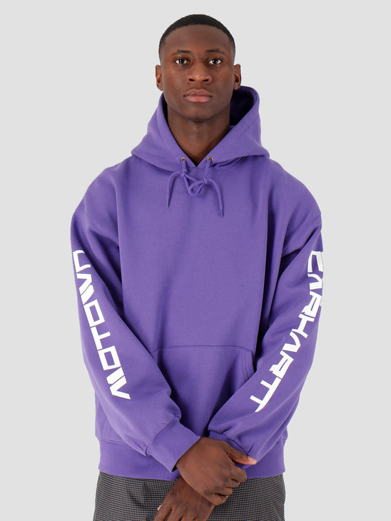 Carhartt WIP Hooded Motown Sweat Prism Violet White I027162