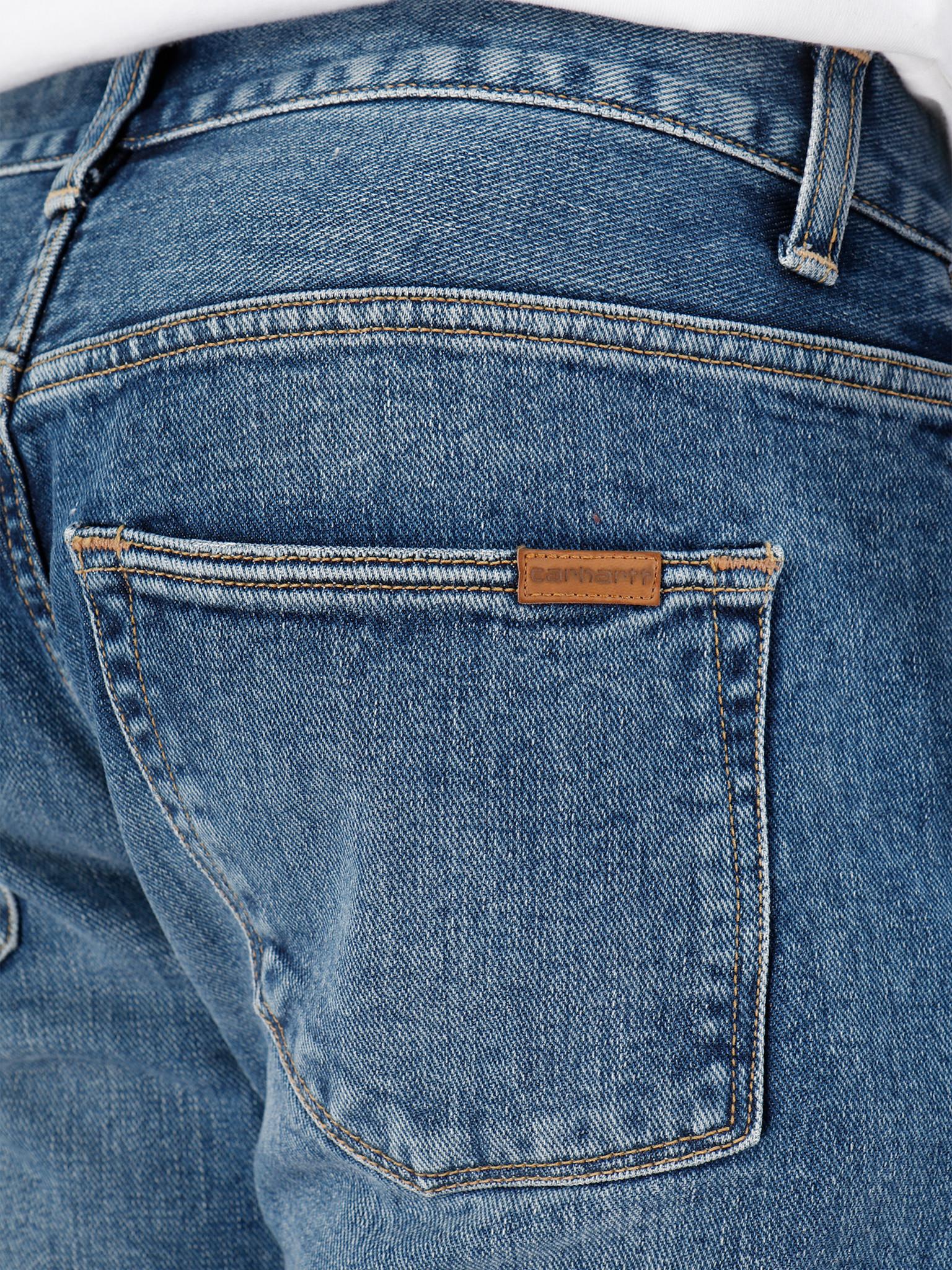 Carhartt WIP Carhartt WIP Vicious Pant Blue Mid Worn Wash I027230-01WM